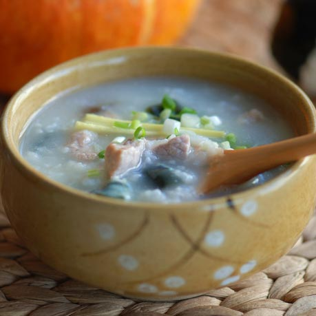 Preserved Egg and Pork Congee